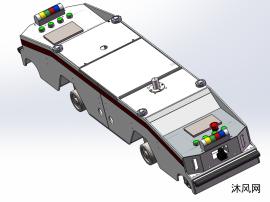 潜伏牵引式AGV三维