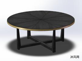 圆形的茶几桌