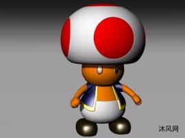 蘑菇老弟公仔模型