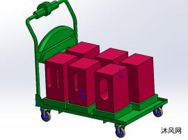 拖车sw设计模型图