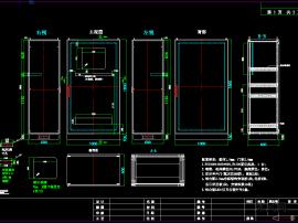 高端机箱钣金控制配电柜cad图纸
