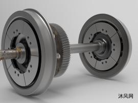 段式制动盘机车车轮设计模型