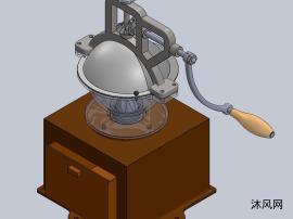 手動咖啡研磨機設計模型