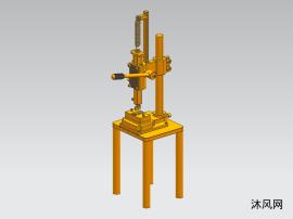 手动压力机三维模型图