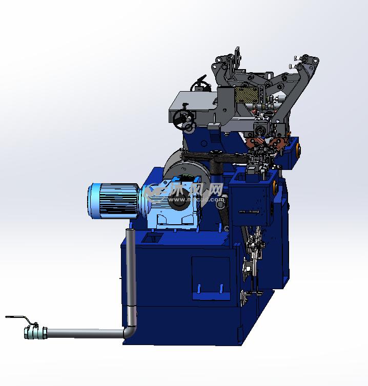 全自动高强度链条焊接机 侧视图