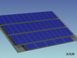 10KW光伏板设计模型
