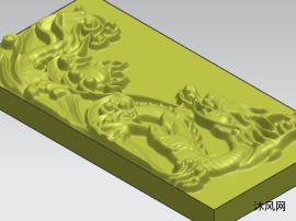小龙浮雕模型图