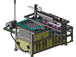 自动化料盘拆盘机