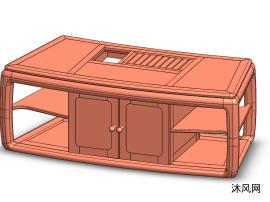 新中式茶几3D模型设计