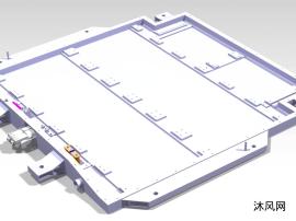 某新能源动力电池铝型材电池下箱体