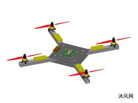 四翼无人机玩具设计模型