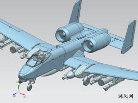 精品美国喷气式战斗机歼击机三维UG飞机造型设计