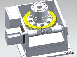 一款伺服电机涡轮蜗杆的加速机总成