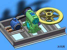 电机减速器机构模型