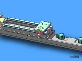 电机丝杠压紧组件模型