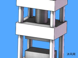 油压冲床模型图