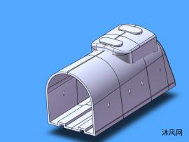 火车车厢模型图
