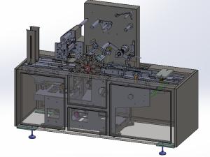 小三維透明膜包裝機CAD圖