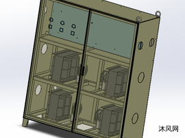 四色印刷机电柜图纸