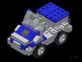 乐高钓鱼小车设计模型