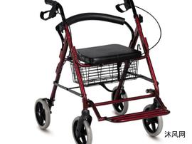 (原创)F884L带脚踏架四轮助行购物车设计CAD图