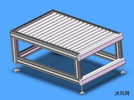 铝型材滚筒机构模型