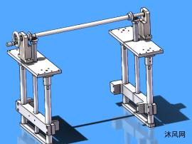 手动双升降机构模型