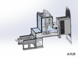 产品塑料件外壳密封空间自动镭雕机构