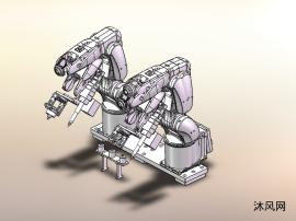 六轴机械手涂布机构