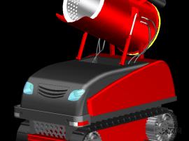 履带式消防风炮机器人