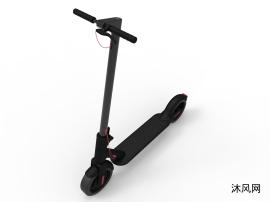 电动滑板车三维模型图纸