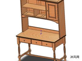 美式书架SW3D模型设计