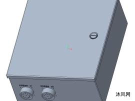 带板和安全继电器的多路复用箱设计模型