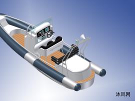 充气船模型