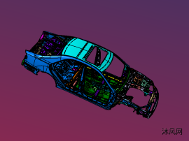 丰田车体3DXML数据