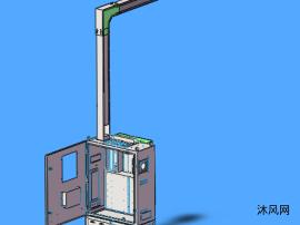电柜三维图模型
