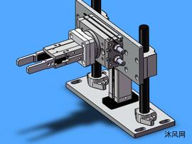 继电器夹料旋转机构模型