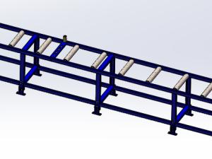 滚筒传送线三维模型