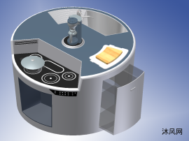 厨房使用桌柜设计模型
