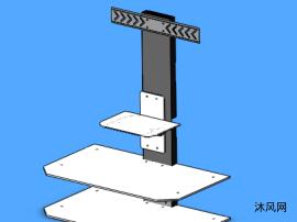 液晶电视柜模型
