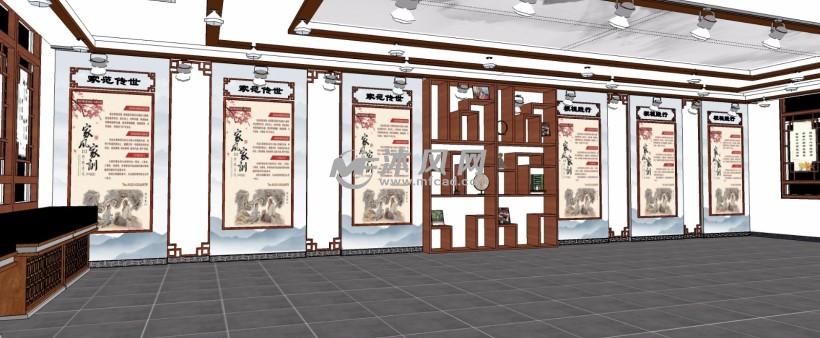 中国传统家风家训展示馆展厅内部