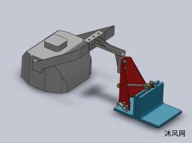边缘安装固定的夹具支架设计模型