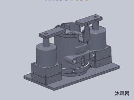 90度旋转压紧工装设计模型