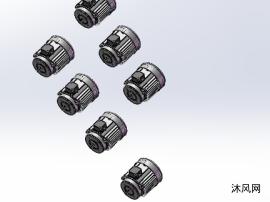 7款B14小法兰立式三相异步电动机