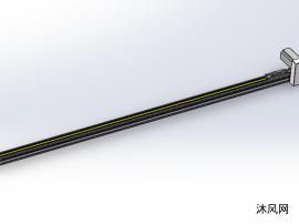 直线模组上下料滑台模型