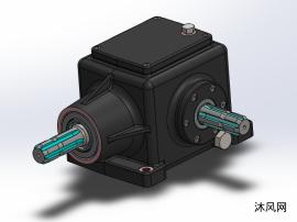 锥齿轮箱模型