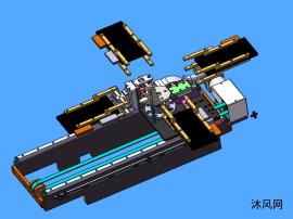 电芯平移旋转机构模型