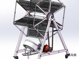 摩天轮型晾晒装置