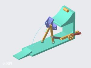 曲柄摇杆传送机构仿真模型