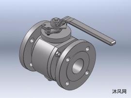 6种DN50~80-PN25手动锻钢固定球阀模型